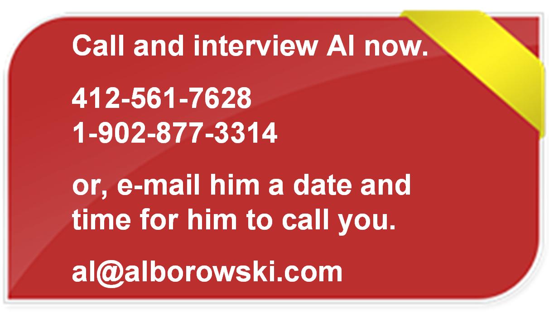 Call Certified Speaking Professional, Al Borowski for Communication Skills keynotes